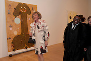 ISAAC JULIEN; GRAYSON PERY IN FRONT OF CHRIS OFILI PAINTING, Chris Ofili private view for the opening of his exhibition. Tate. London. 25 January 2010