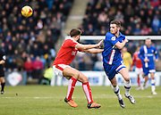 Gillingham forward Rory Donnelly in action during the Sky Bet League 1 match between Gillingham and Swindon Town at the MEMS Priestfield Stadium, Gillingham, England on 6 February 2016. Photo by David Charbit.