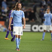 Mix Diskerud, NYCFC, during the New York City FC Vs Orlando City, MSL regular season football match at Yankee Stadium, The Bronx, New York,  USA. 18th March 2016. Photo Tim Clayton