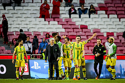 April 30, 2018 - Na - Lisboa, 04/28/2018 - Sport Lisboa Benfica received this afternoon at Estádio da Luz Tondela in the 32nd Match of the first Liga NOS. Eça 2017 / 2018. Tondole players celebrate Vitória 3-2 over SL Benfica  (Credit Image: © Atlantico Press via ZUMA Wire)