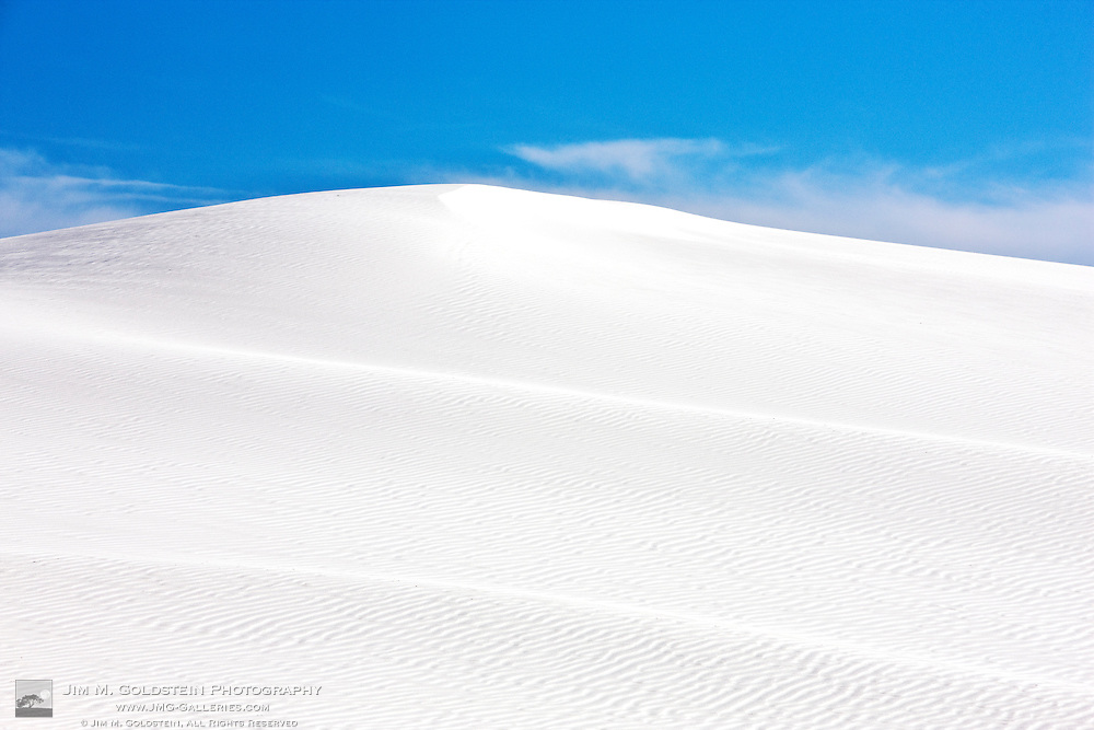 A massive sand dune in White Sands National Monument, New Mexico