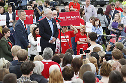 © Licensed to London News Pictures. 31/05/2017. Reading, UK. Leader of the Labour Party JEREMY CORBYN holds a rally at Rivermead Leisure Centre in Reading, Berkshire, ahead of a general election on June 8. Recent polls have show a closing in the gap between the Labour Party and Conservative Party, in what was expected to be a landslide victory for the Conservatives. Photo credit: Peter Macdiarmid/LNP
