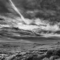 Peak District Vista, grass, moor, rock with a huge sky overhead