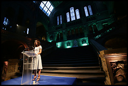 July 13, 2017 - London, London, United Kingdom - Image ©Licensed to i-Images Picture Agency. 13/07/2017. London, United Kingdom. Duchess of Cambridge Natural History Museum. ..The Duchess of Cambridge makes a speech during the reopening of Hintze Hall at the Natural History Museum in London...Picture by  i-Images / Pool (Credit Image: © i-Images via ZUMA Press)
