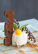 HOTEL CHOUPANA HILLS, ILHA DA MADEIRA.Cheesecake de bolo de mel com molho de caramelo.FOTO GREGORIO CUNHA.