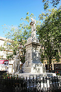 Statue of Francisco de Albear, historic district of Havana, Cuba
