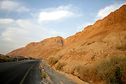 road following the dead sea region