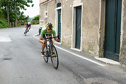 Sheyla Gutierrez (Cylance Pro Cycling) catches her minute woman as they enter San Martino at Giro Rosa 2016 - Stage 7. A 21.9 km individual time trial from Albisola to Varazze, Italy on July 8th 2016.