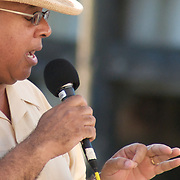 City of Yonkers presents the annual Jazz & Blues @ Dusk series at the Yonkers Amphitheatre every Friday night from mid July through the first week in September, featuring various artists. Performing here is Deforest Raphael (& Friends).