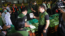 March 22, 2019 - Manila, Philippines - Philippine Drug Enforcement Agency (PDEA) together with Bureau of Customs had seized 276 kilograms of shabu or methamphetamine at Manila International Container Port. The container came from Ho Chi Minh City under Wealth Lotus Empire Corp (Credit Image: © Sherbien Dacalanio/Pacific Press via ZUMA Wire)