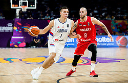 Bogdan Bogdanovic of Serbia vs David Vojvoda of Hungary during basketball match between National Teams of Serbia and Hungary at Day 11 in Round of 16 of the FIBA EuroBasket 2017 at Sinan Erdem Dome in Istanbul, Turkey on September 10, 2017. Photo by Vid Ponikvar / Sportida