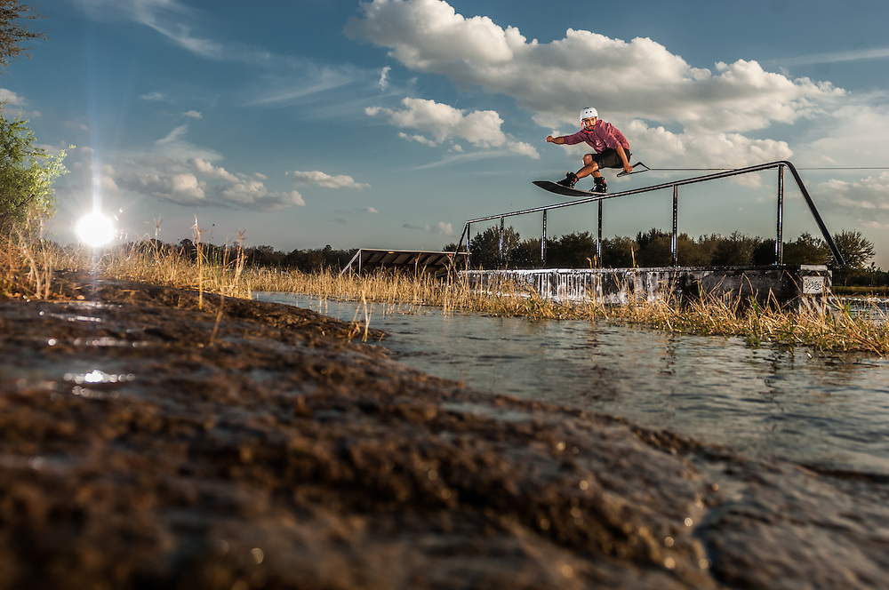 Trevor Bashir shot for Transworld Wakeboarding at the Projects Wake Park in Orlando, Florida.