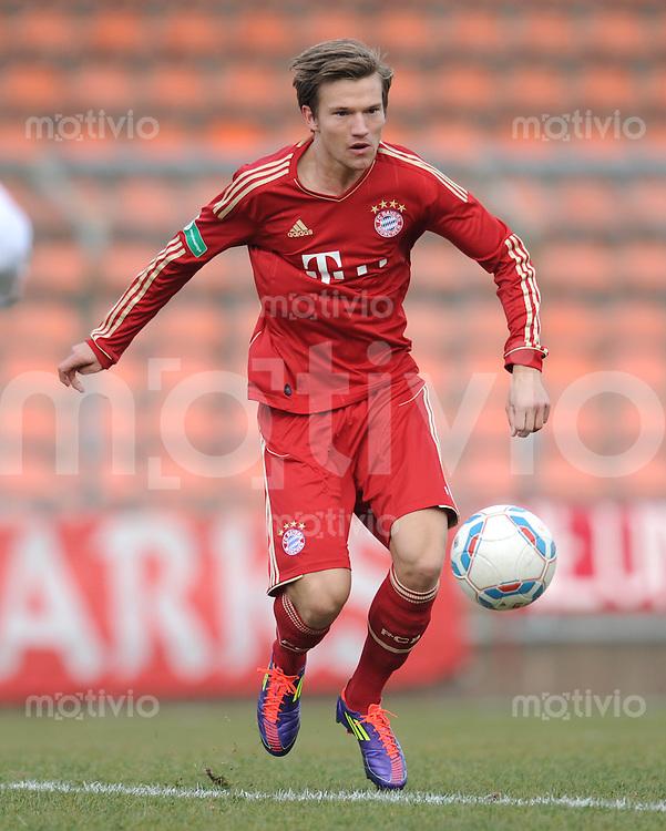 FUSSBALL  Regionalliga Sued   SAISON  2011/2012    18. Spieltag   20.11.2011 FC Bayern Muenchen II - 1. FC Nuernberg II Bastian Mueller (FC Bayern II)