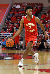 26 November 2016:  Markese Mayfield during an NCAA  mens basketball game between the Ferris State Bulldogs the Illinois State Redbirds in a non-conference game at Redbird Arena, Normal IL