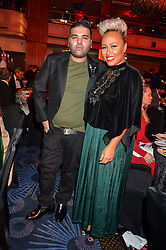 Singers NAUGHTY BOY and EMELI SANDE at the 6th annual Asian Awards held at The Grosvenor House Hotel, Park Lane, London on 8th April 2016.