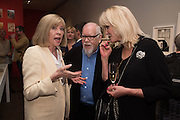 CHRISTINE BLAKE; PETER BLAKE; JOANNA LUMLEY, Preview of Terence Donovan: Speed of Light, Photographers Gallery, Ramillies Place, Thursday 14 July 2016,