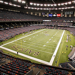 Nov 08, 2009; New Orleans, LA, USA; A general view of the Louisiana Superdome prior to kickoff of a game between the New Orleans Saints and the Carolina Panthers. Mandatory Credit: Derick E. Hingle