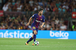 August 7, 2017 - Barcelona, Spain - Sergi Roberto of FC Barcelona during the 2017 Joan Gamper Trophy football match between FC Barcelona and Chapecoense on August 7, 2017 at Camp Nou stadium in Barcelona, Spain. (Credit Image: © Manuel Blondeau via ZUMA Wire)