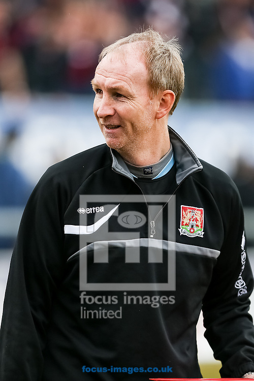 Northampton assistant manager, Alan Knill, during the Sky Bet League 2 match at the London Borough of Barking and Dagenham Stadium, London<br /> Picture by Andy Kearns/Focus Images Ltd 0781 864 4264<br /> 26/04/2014