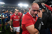 Rory Best - Lions hooker walks off the field dejected following defeat to the Auckland Blues.<br /> Auckland Blues v British & Irish Lions, Eden Park, Auckland, New Zealand, Wednesday 7th June 2017<br /> Copyright photo: David Gibson / www.photosport.nz