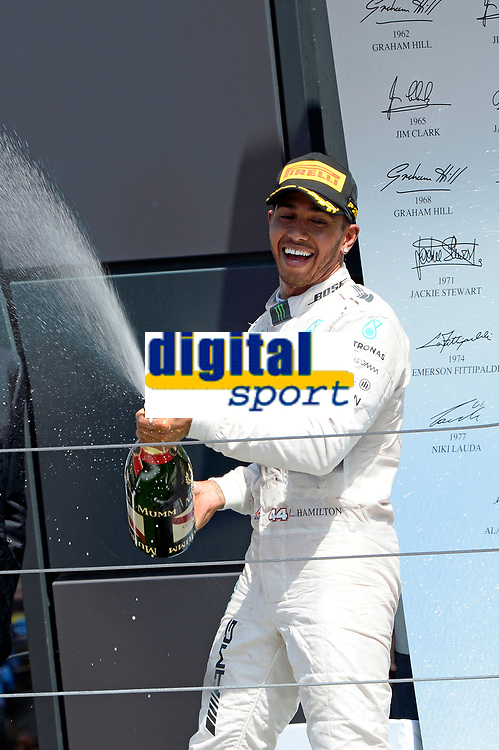 PODIUM - HAMILTON lewis (gbr) mercedes gp mgp w06 ambiance portrait during the 2015 Formula One World Championship, Grand Prix of England from july 2 to 5th 2015,  in Silverstone, Great Britain. Photo Eric Vargiolu / DPPI