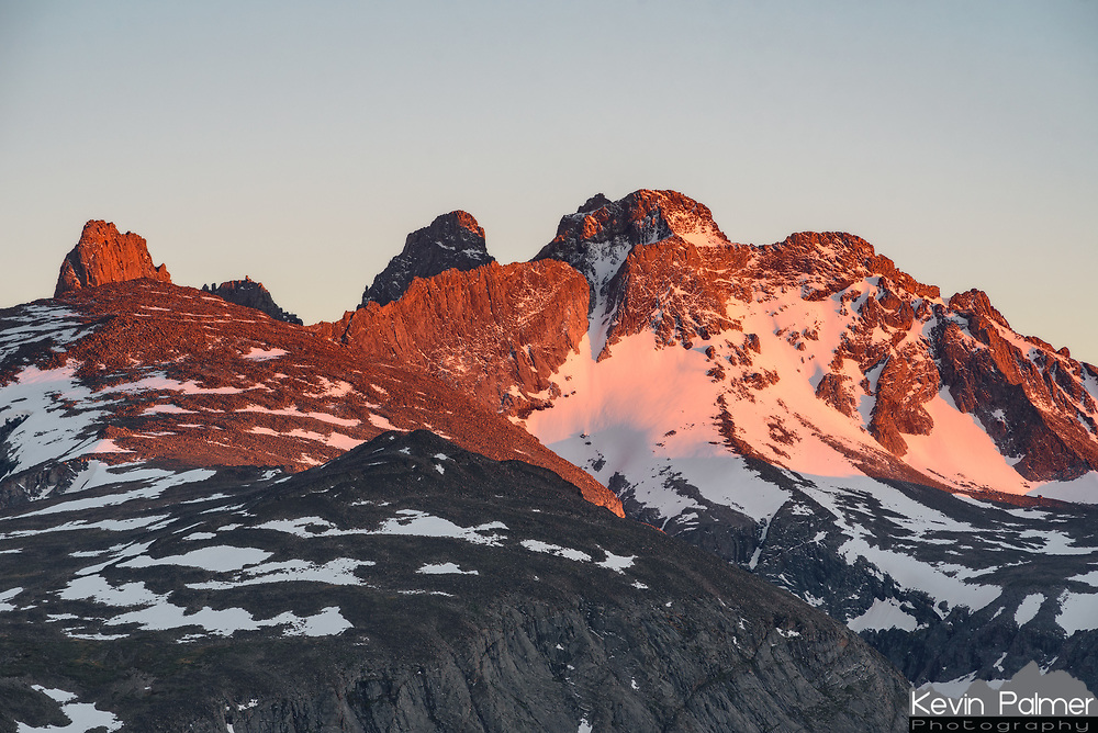The view of Blacktooth Mountain and Mount Woolsey was stunning from Highland Park. There was still plenty of snow up here on the last day of June, with fresh snowfall the night before.
