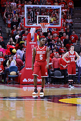 11 February 2017:  Darrell Brown during a College MVC (Missouri Valley conference) mens basketball game between the Bradley Braves and Illinois State Redbirds in  Redbird Arena, Normal IL
