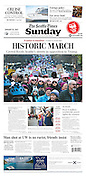 Seattle Times Page A1 (January 22, 2017)