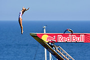 Antonia Vyshyvanova of Ukraine during the Red Bull Cliff Diving World Series 2018 on September 23, 2018 in Polignano a Mare, Italy - Photo Marco Verri / ProSportsImages / DPPI