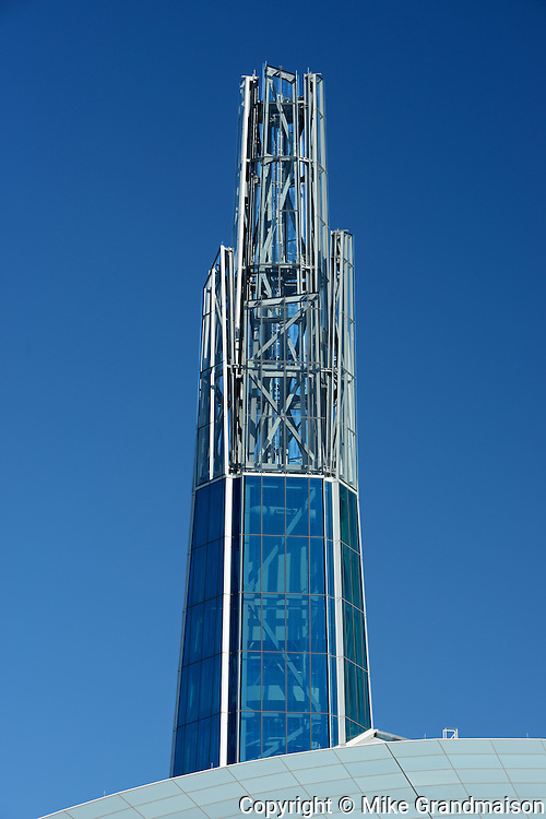 Canadian Museum for Human Rights (CMHR) and 'Tower of Hope'<br /> Winnipeg<br /> Manitoba<br /> Canada