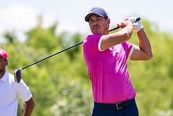 May 12, 2019 - Dallas, TX, U.S. - DALLAS, TX - MAY 12: Brooks Koepka hits his tee shot on #4 during the final round of the AT&T Byron Nelson on May 12, 2019 at Trinity Forest Golf Club in Dallas, TX. (Photo by Andrew Dieb/Icon Sportswire) (Credit Image: © Andrew Dieb/Icon SMI via ZUMA Press)