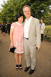 ALICE RAWTHORNE and HANS ULRICH OBRIST at a private view of work by Wolfgang Tillmans at The Serpentine Gallery, Kensington Gardens, London on 25th June 2010.