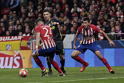 February 20, 2019 - Madrid, Madrid, Spain - Atletico de Madrid's Jose Maria Gimenez (L) and Rodrigo Hernandez (R) and Juventus' Cristiano Ronaldo during UEFA Champions League match, Round of 16, 1st leg between Atletico de Madrid and Juventus at Wanda Metropolitano Stadium in Madrid, Spain. February 20, 2019. (Credit Image: © A. Ware/NurPhoto via ZUMA Press)