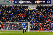 Ranger fans are in 7th heaven during the Ladbrokes Scottish Premiership match between Rangers and Motherwell at Ibrox, Glasgow, Scotland on Sunday 11th November 2018.