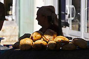 Uzbekistan, Khiva, Dekhon Bazaar.<br /> Somsa (dumplings baked in a tandyr oven).