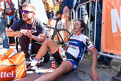Big effort from Carmen Small (Cervélo Bigla) on ther birthday - Flèche Wallonne Femmes - a 137km road race from starting and finishing in Huy on April 20, 2016 in Liege, Belgium.