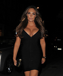 Tamara Ecclestone wearing a very fitted black bandage dress, that accentuated her bust, seen arriving a Cipriani's restaurant in London. UK. 06/10/2012 <br />BYLINE MUST READ : GOTCHAIMAGES.COM<br /><br />Copyright by &copy; Gotcha Images Ltd. All rights reserved.<br />Usage of this image is conditional upon the acceptance <br />of Gotcha Images Ltd, terms and conditions available at<br />www.gotchaimages.com