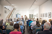 Deal Festival 2017_ Pre-concert talk by Frances Fyfield (Lawer and writer) and Paul Edlin (Artistic Director of the Deal Festival and Director of Music at Queen Mary University, London). They discussed Haydn's Trumpet Concerto in E, and the history of the trumpet. The talk was held at Linden Hall Studio, Deal, and the following concert featured Lucienne Renaudin Vary with the Purcell School Chamber Orchestra and Contemporary Ensemble, in St. George's Church, Deal. © Tony Nandi 2017