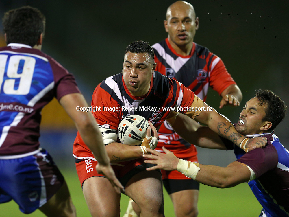 Uila Aiolupo of Counties in action at the NZRL national premiership match between Akarana Falcons vs Counties Manukau Stingrays, at Mt Smart stadium, Auckland, 16 September 2016. Copyright Image: Renee McKay / www.photosport.nz