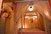 PABLONA Love Hotel in Osaka Namba area. Hello Kitty room.