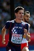 Gabriel Tual (FRA) competes in 800m Men during the European Championships 2018, at Olympic Stadium in Berlin, Germany, Day 3, on August 9, 2018 - Photo Photo Julien Crosnier / KMSP / ProSportsImages / DPPI