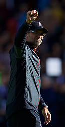 SHEFFIELD, ENGLAND - Thursday, September 26, 2019: Liverpool's manager Jürgen Klopp celebrates after the FA Premier League match between Sheffield United FC and Liverpool FC at Bramall Lane. Liverpool won 1-0. (Pic by David Rawcliffe/Propaganda)