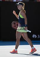 ANGELIQUE KERBER (GER) macht die Faust und jubelt,Jubel,Emotion,<br /> <br /> Tennis - Australian Open 2018 - Grand Slam / ATP / WTA -  Melbourne  Park - Melbourne - Victoria - Australia  - 25 January 2018.