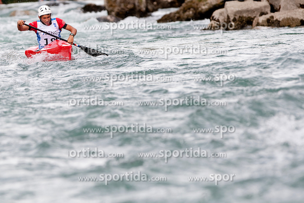 Obadic Luka of CRO during ECA Wildwater European Junior Championships 2012 in category canoe single man, on September 1st, 2012 in Solkan, Slovenia. (Photo by Urban Urbanc / Sportida.com)