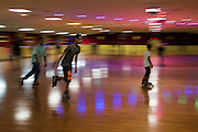 Ahmed Mohamed rollerblades at the local skating rink in Irving, Texas on July 15, 2016. (Cooper Neill for The Washington Post)