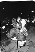 Woman arriving at the Winter Ball, Grosvenor House. 1/2/88© Copyright Photograph by Dafydd Jones 66 Stockwell Park Rd. London SW9 0DA Tel 020 7733 0108 www.dafjones.com.