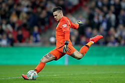 Manchester City goalkeeper Ederson in action