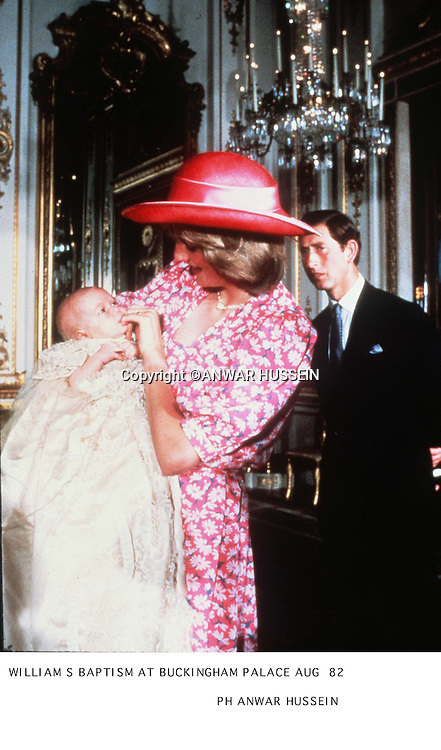 WILLIAM S BAPTISM AT BUCKINGHAM PALACE AUG 82 DIANA   <br />