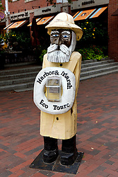Fisherman statue advertising boat trips, Newburyport, Massachusetts, United States of America