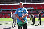 Staff member Ian Wrixon during the Vanarama National League Play Off Final match between Tranmere Rovers and Forest Green Rovers at Wembley Stadium, London, England on 14 May 2017. Photo by Shane Healey.
